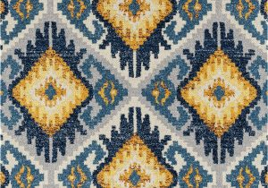 Blue and Yellow Throw Rugs Dietz Geometric Blue Yellow area Rug