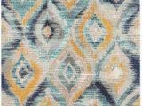 Blue and Yellow Throw Rugs Safavieh Monaco Blue Yellow area Rug