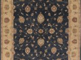 Blue area Rugs 10×14 Charcoal Blue Floral Oushak oriental area Rug 10×14