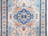 Blue area Rugs 10×14 Turkish Oushak 10 X 14 Blue Ivory area Rug