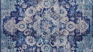 Blue area Rugs Near Me Blue Distressed Rug oriental Vintage Carpet