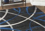 Blue Black and Grey Rug ashley Jenue Black Gray Blue Rug