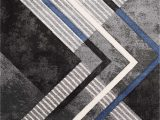 Blue Black and Grey Rug soho Grey Black Blue solid Point Rug by Kalora