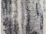 Blue Black Gray area Rug Exquisite Rugs Abstract Expressions Hand Knotted 3337 Blue Gray area Rug