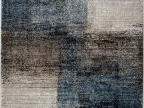 Blue Black Gray area Rug Jayesh Abstract Blue Black Beige area Rug