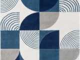 Blue Black Gray area Rug Margot Geometric Blue Gray Black area Rug