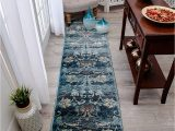 Blue Brown Cream area Rug Premium soft Runner for Hallway Cream 2×8 Runner Rugs Beige Cream Navy Brown Blue Narrow Rug 2 by 7 Rugs Fashion Runner Washable Hallway Rugs with