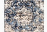 Blue Brown Cream area Rug Romance Collectionrugs Cream Blue Brown Distressed Washed oriental Design Premium soft area Rug 3 X 10 Runner