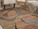 Blue Brown Rug Contemporary Nourison Expressions Xp 07 area Rugs