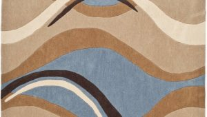 Blue Brown Rug Contemporary Safavieh Modern Art Mda617a Blue Brown area Rug Last Chance