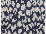 Blue Cheetah Print Rug A Contemporary Take On Animal Print This Dark Navy Wool and