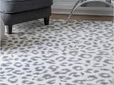 Blue Cheetah Print Rug Nuloom Contemporary Modern Animal Leopard Print area Rug In