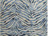 Blue Cheetah Print Rug Pier 1 Imports Coda Zebra Blue Wool Rug Blue Zebra Rug