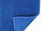 Blue Chenille Bath Rug Klickpick Designs Thick Plush Bath Mats soft Bath Mat Chenille Washable Bath Rugs Microfiber Shaggy Non Slip Bathroom Rug Anti Slip Absorbent Bath Rug