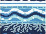 Blue Coastal area Rugs Blue Bay Coastal area Rug