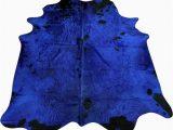 Blue Cow Skin Rug Rugs Kakar House Of Design