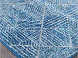 Blue Diamond Pattern Rug Kampot Navy and White Tribal Diamond Pattern Rug
