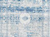 Blue Distressed area Rug Bosphorus Distressed Persian Blue Rug