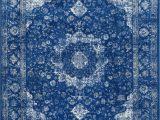 Blue Distressed area Rug Bosphorus Distressed Persian Dark Blue Rug