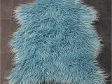 Blue Faux Sheepskin Rug New 2018 Range Duck Egg Blue Mongolian Faux Fur Sheepskin