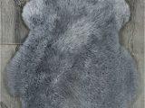 Blue Faux Sheepskin Rug Silver Grey Single Sheepskin Rug City Cows
