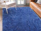 Blue Fuzzy area Rug Benron soft Fluffy area Rugs for Bedroom Kids Room Shag Furry Fur Rug for Living Room Boys Girls Modern Plush Nursery Rugs solid Accent Floor Carpet