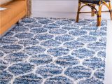 Blue Fuzzy area Rug Blue 9 X 12 athena Shag Rug Rugs Com