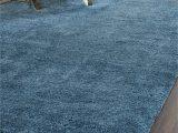 Blue Fuzzy area Rug Malibu Shag solid Blue area Rug