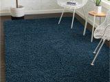 Blue Fuzzy area Rug Sapphire Blue 8 X 11 solid Shag Rug Rugs Com