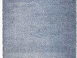 Blue Fuzzy area Rug Thalia Blue Shag area Rug
