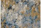 Blue Gold area Rug oriental Weavers Evolution 980a area Rugs