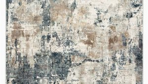Blue Gray and Beige area Rug Sisario Abstract Blue & Gray area Rug