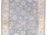 Blue Gray Brown area Rug Cedrick Hand Knotted Wool Blue Brown area Rug