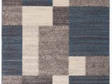 Blue Gray Brown Rug Brighouse Geometric Blue Gray area Rug