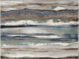 Blue Gray Brown Rug Jayesh Abstract Blue Brown area Rug