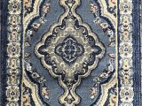 Blue Gray Brown Rug Traditional oriental Door Mat Persian Rug Light Blue Navy Gray Brown Design 520 31 Inch X 4 Feet 11 Inch