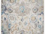Blue Gray Cream area Rug Amory Floral Cream Gray Blue area Rug