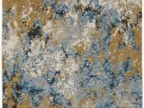 Blue Gray Gold Rug oriental Weavers Evolution 980a area Rugs