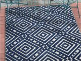 Blue Gray Outdoor Rug Geometric Blue Gray High Traffic Stain Resistant Indoor