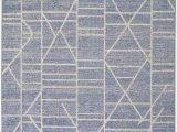 Blue Gray Outdoor Rug Trebon Blue and Grey Geometric Indoor Outdoor Rug