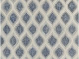 Blue Gray White area Rugs Clara Collection Hand Tufted area Rug In Blue Grey & White