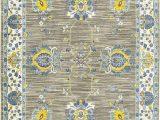 Blue Gray Yellow area Rug oriental Weavers Joli 503d Grey Yellow area Rug