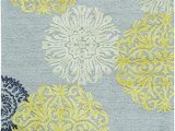 Blue Gray Yellow area Rug Rizzy Home Eden Harbor Collection Wool Viscose area Rug 5 X 8 Yellow Gray Rust Blue Medallion