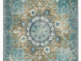 Blue Green Brown area Rugs Kai Modify Overdyed Hand Knotted Blue Green area Rug