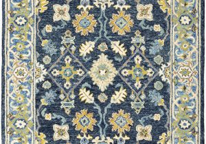 Blue Green oriental Rug oriental Weavers Alfresco Navy Blue area Rug