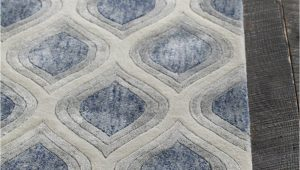 Blue Grey and White area Rug Clara Collection Hand Tufted area Rug In Blue Grey & White