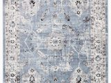 Blue Grey and White area Rug Nashira oriental Blue & White area Rug In 2020