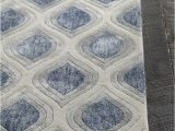 Blue Grey Bathroom Rugs Clara Collection Hand Tufted area Rug In Blue Grey & White