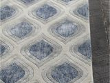 Blue Grey Beige area Rug Clara Collection Hand Tufted area Rug In Blue Grey & White