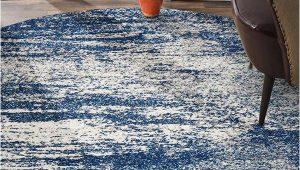 Blue Grey Round Rug Mirage Modern 355 Rug